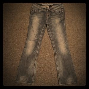 Size 8 Harley Davidson Distressed Boot Cut Jean